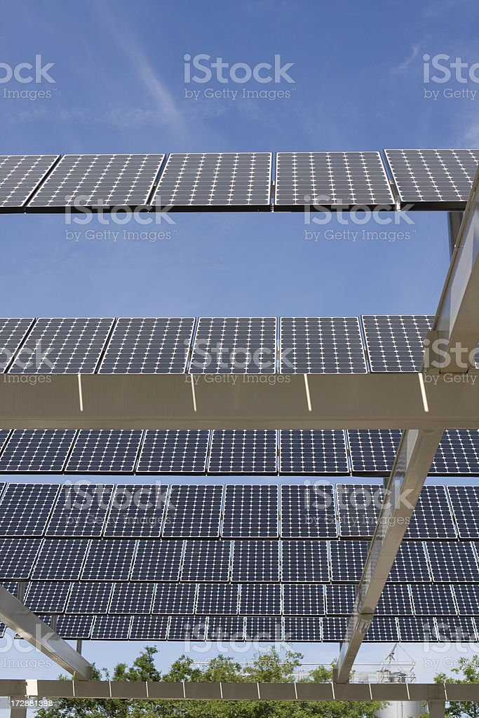 Rotating Solar Panel Array royalty-free stock photo