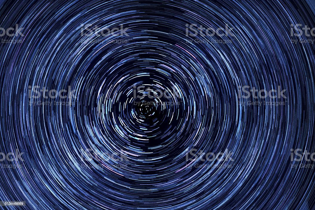 Rotating Star Field in Night Sky, Time Lapse stock photo