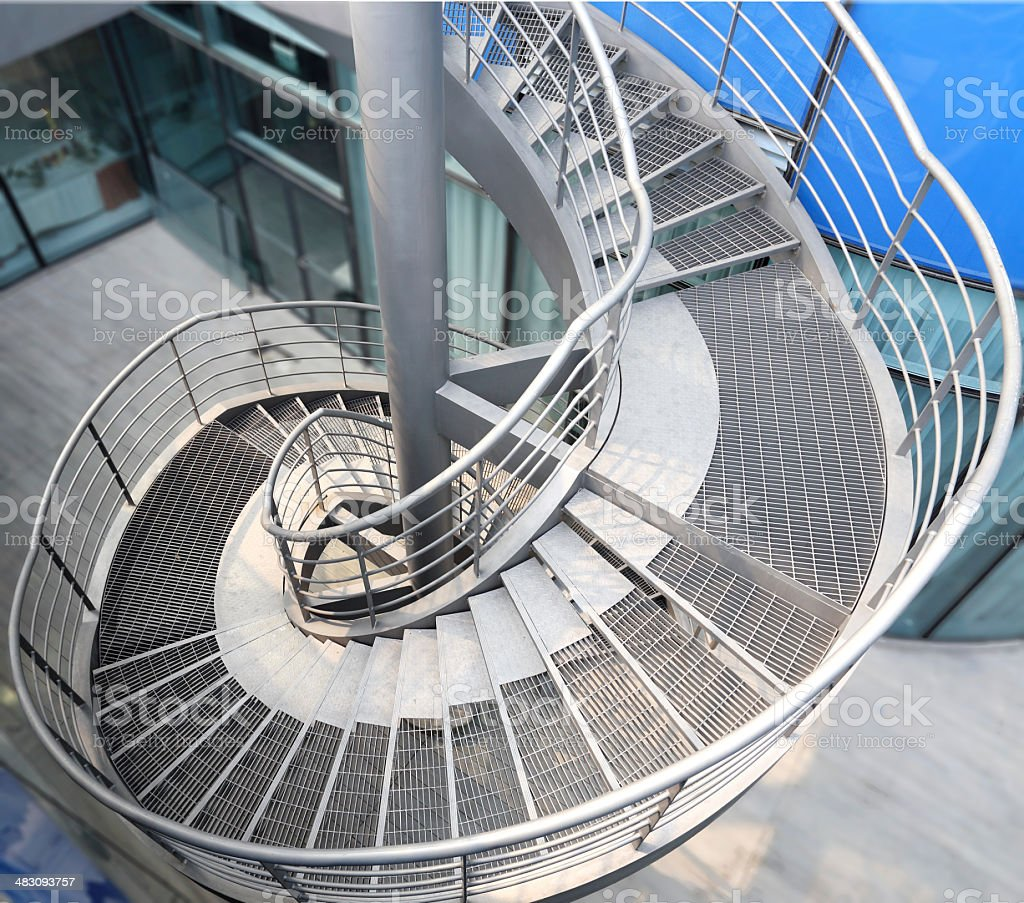 Rotation of the outdoor staircase royalty-free stock photo