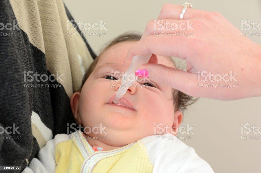 Rotavirus vaccine - virus immunisation stock photo