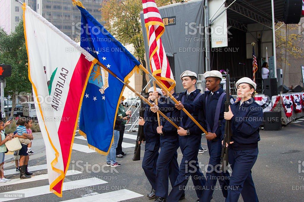 Rotc Honor Guard royalty-free stock photo