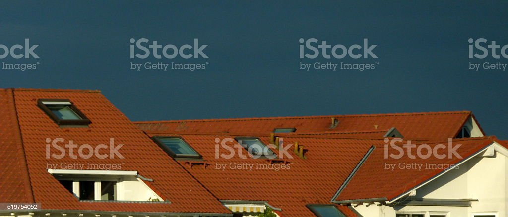 rote Ziegeldächer 4 stock photo