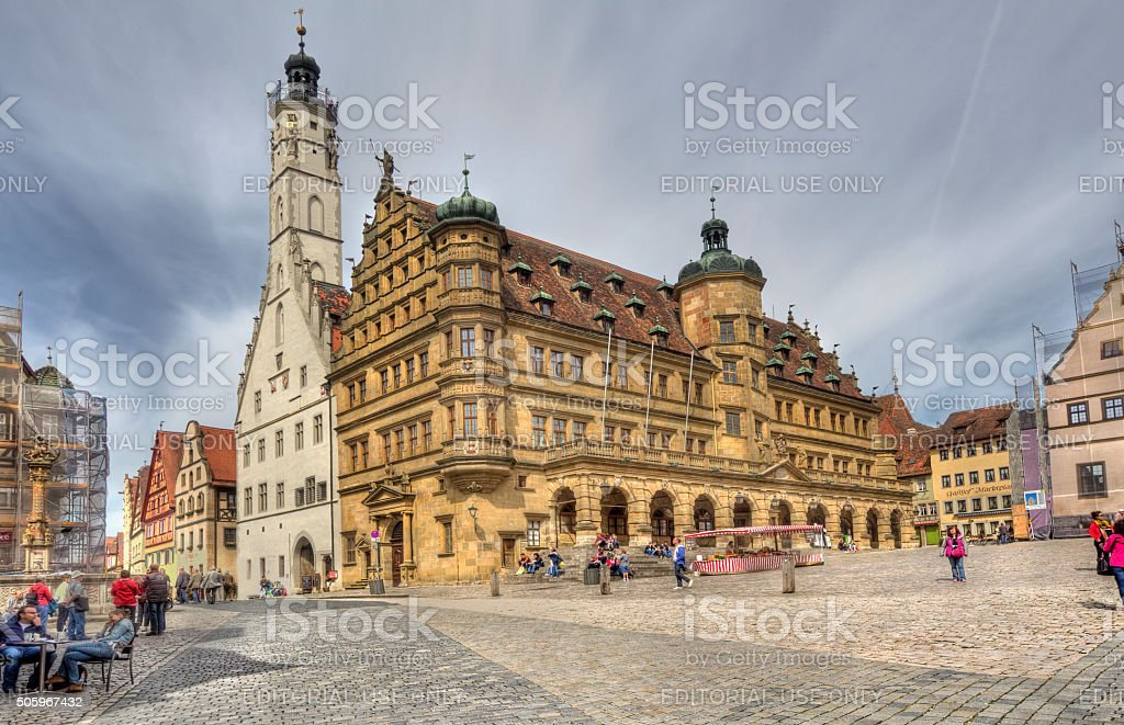 Rotenberg ob den Tauber City Hall stock photo