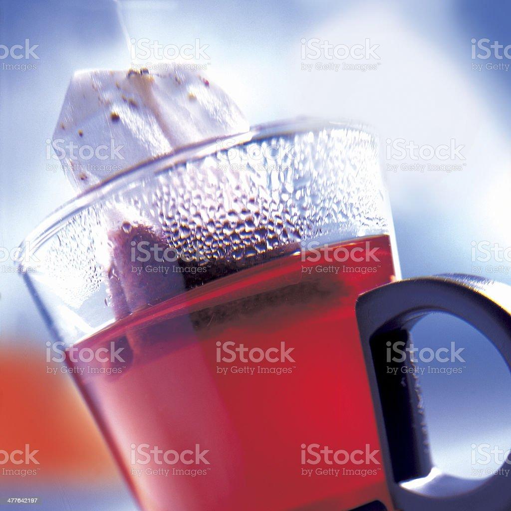 Roter Tee stock photo
