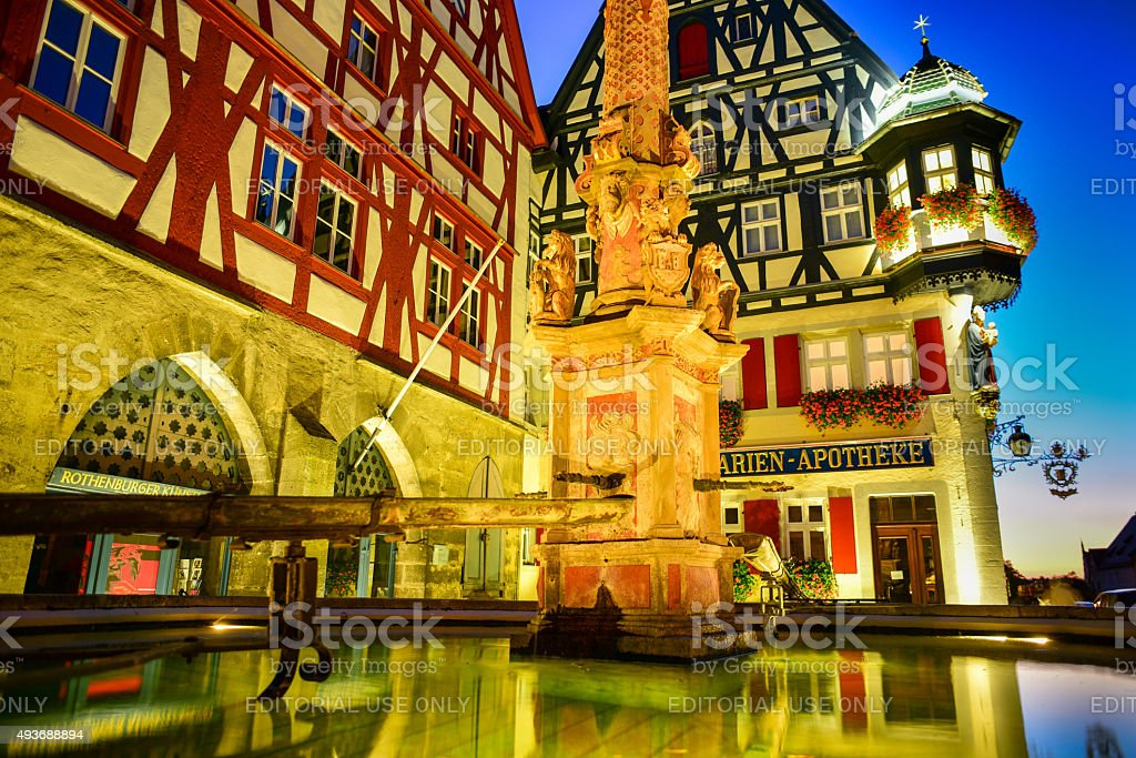 Rothenburg Fountain stock photo