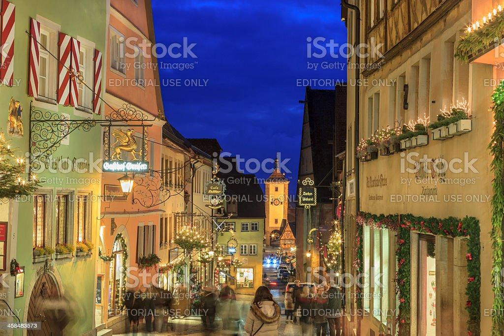 Rothenburg ob der Tauber at Christmas, Germany royalty-free stock photo
