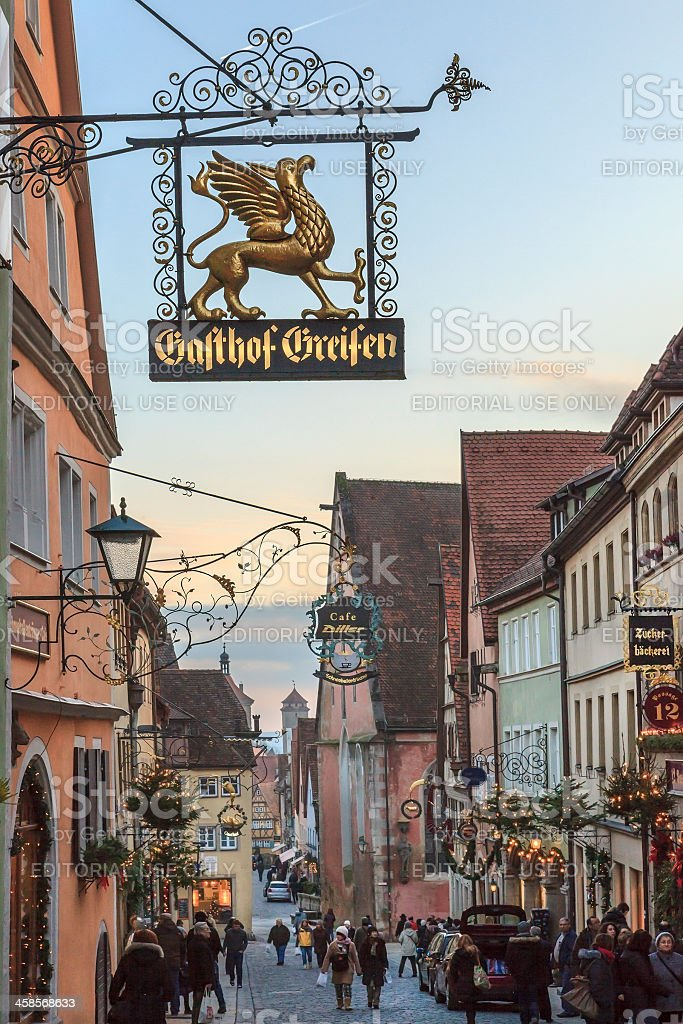 Rothenburg ob der Tauber at Christmas, Germany royalty-free stock photo