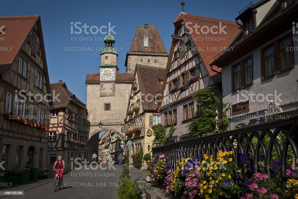 Rothenburg ob der Tauber, Bavaria, Germany, picturesque romantic medieval town royalty-free stock photo