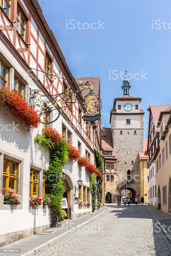 Rothenburg ob der Tauber, Franconia, Bavaria, Germany stock photo
