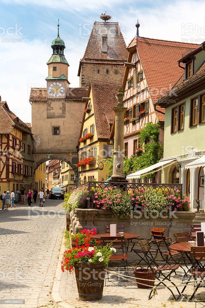 Rothenburg ob der Tauber Germany stock photo