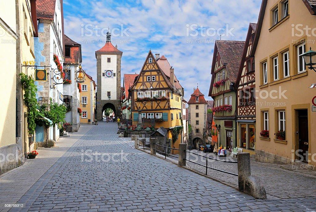Rothenburg ob der Tauber, Germany stock photo