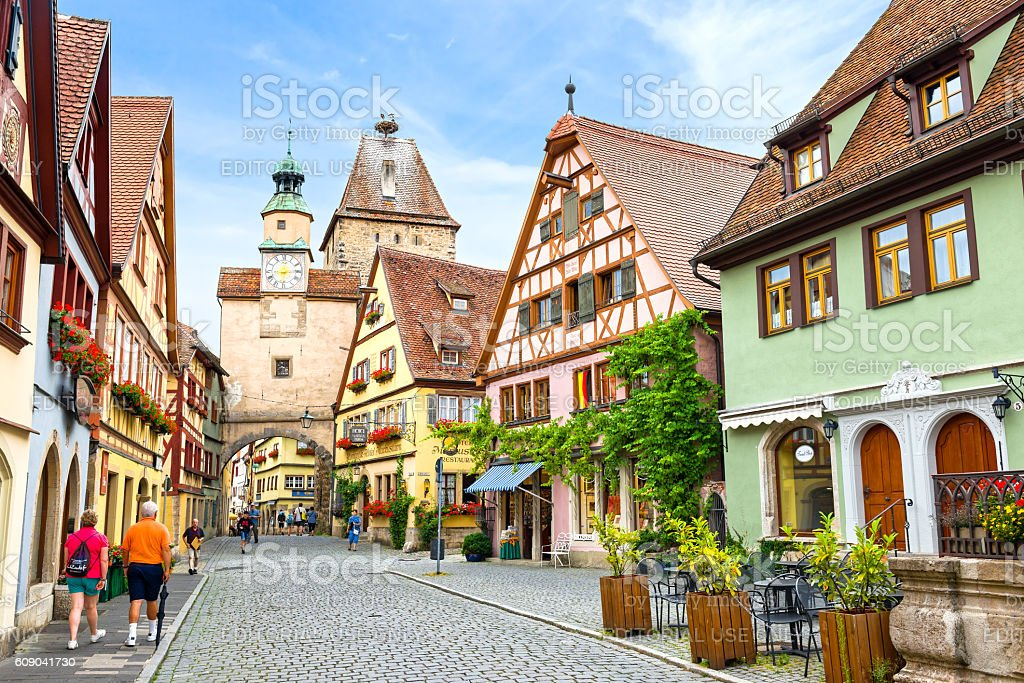 rothenburg ob der tauber germany stock photo 609041730. Black Bedroom Furniture Sets. Home Design Ideas