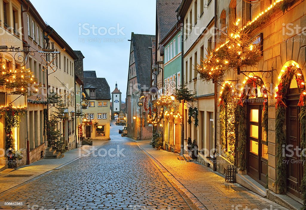 Rothenburg ob der Tauber stock photo