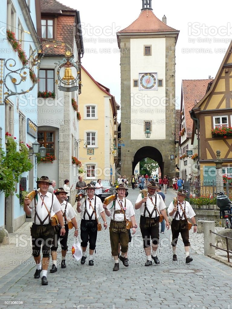 Rothenburg Street Parade stock photo