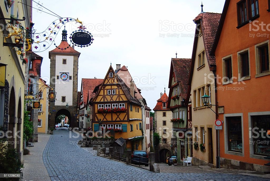 Rothenburg's most famous street stock photo