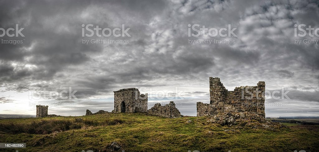 Rothley Castle, near Rothbury, Northumberland, UK stock photo