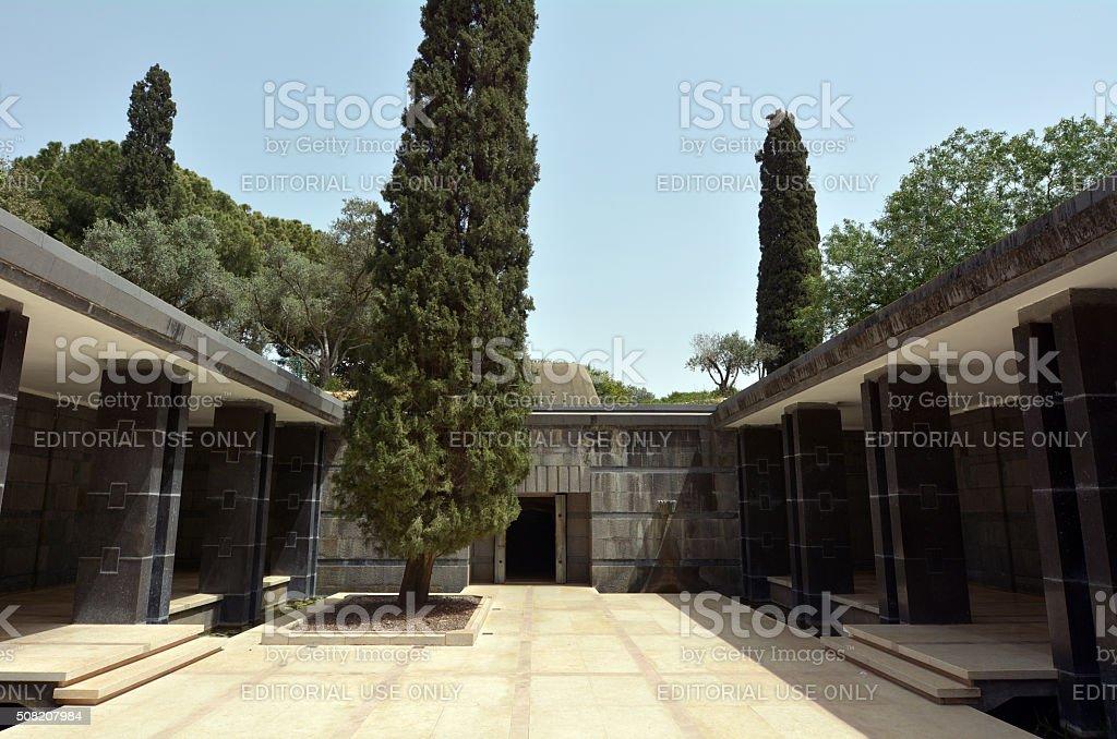 Rothschild family tomb in Ramat Hanadiv in Zikhron Yaakov Israel stock photo