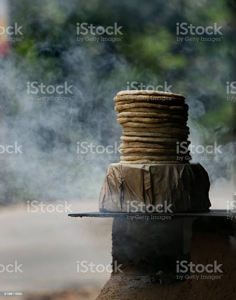Roti food close up stock photo