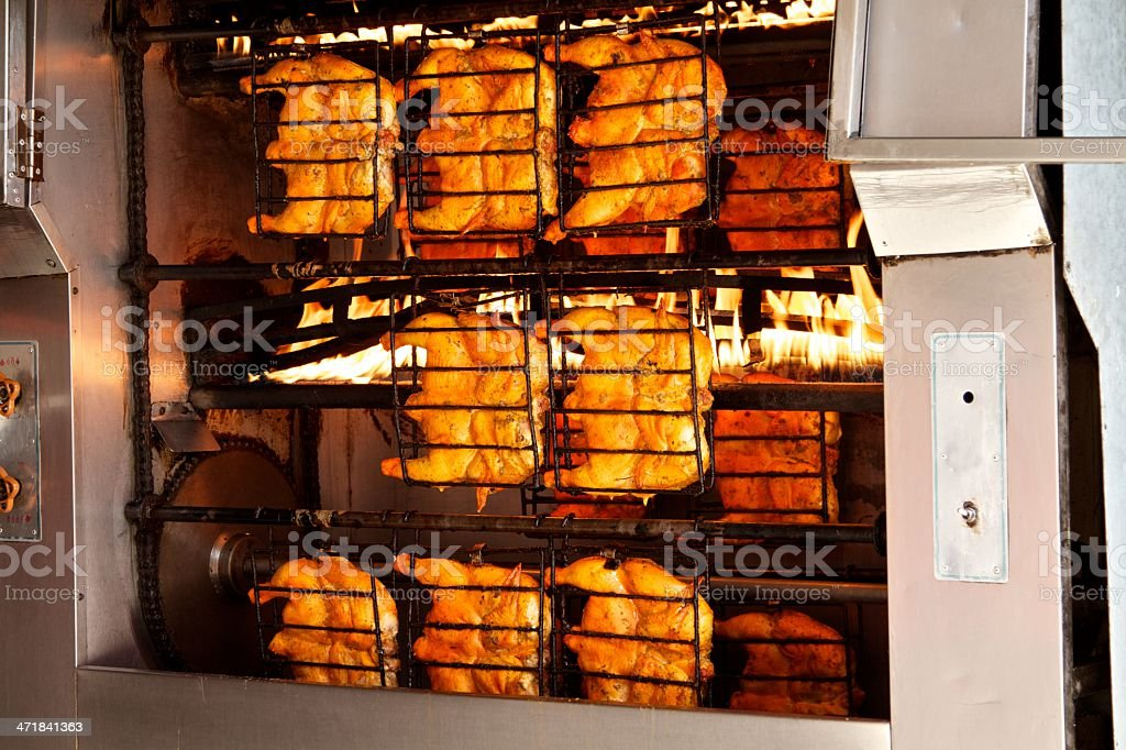 Rotisserie Chicken royalty-free stock photo