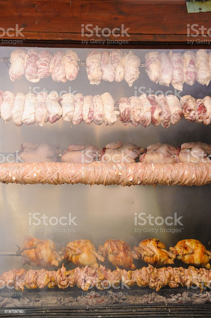 Rotisserie stock photo