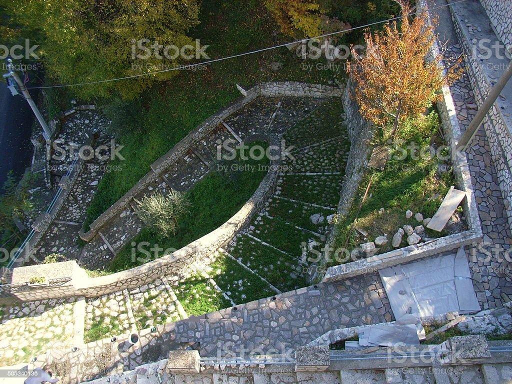 Rotondi - Scale del Santuario stock photo