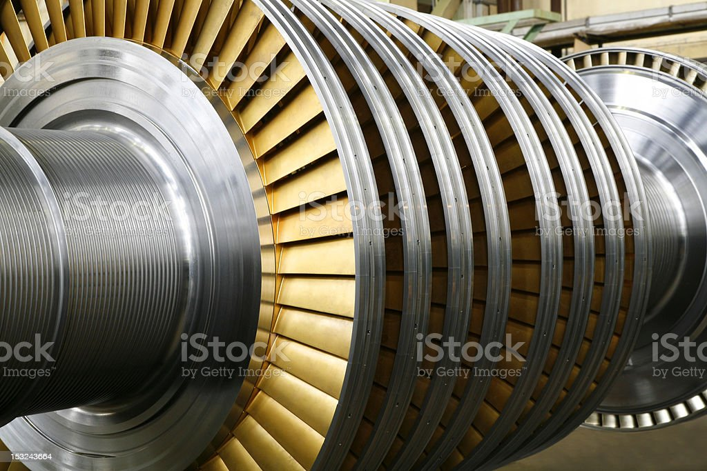 Rotor of the gas turbine stock photo