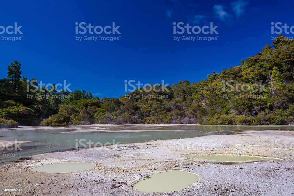 Rotorua Thermal Wonderland stock photo