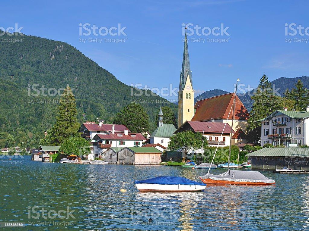 Rottach-Egern,Lake Tegernsee,Bavaria,Germany stock photo