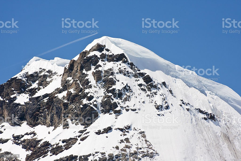 Rottalhorn, Swiss Alps stock photo