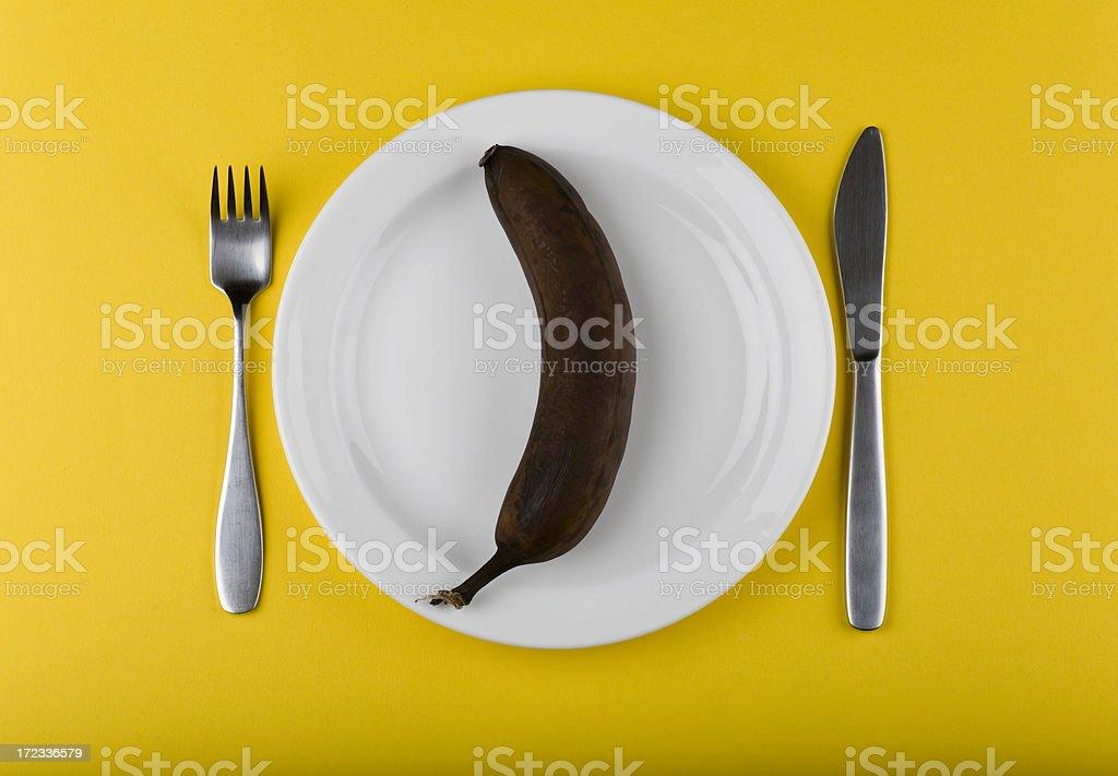 Rotten banana royalty-free stock photo