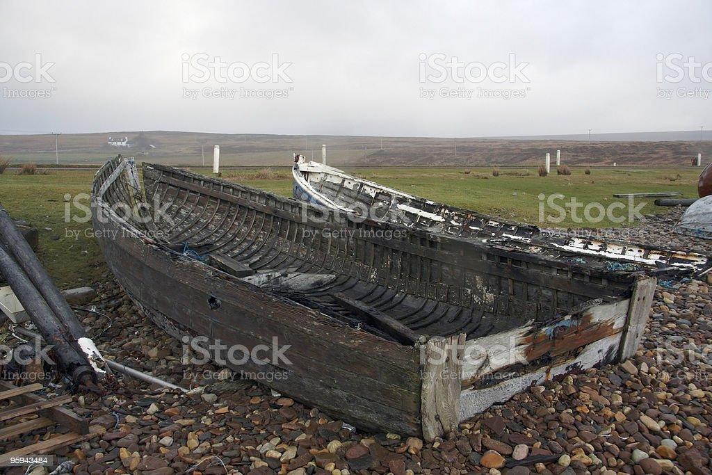 rotten boats stock photo