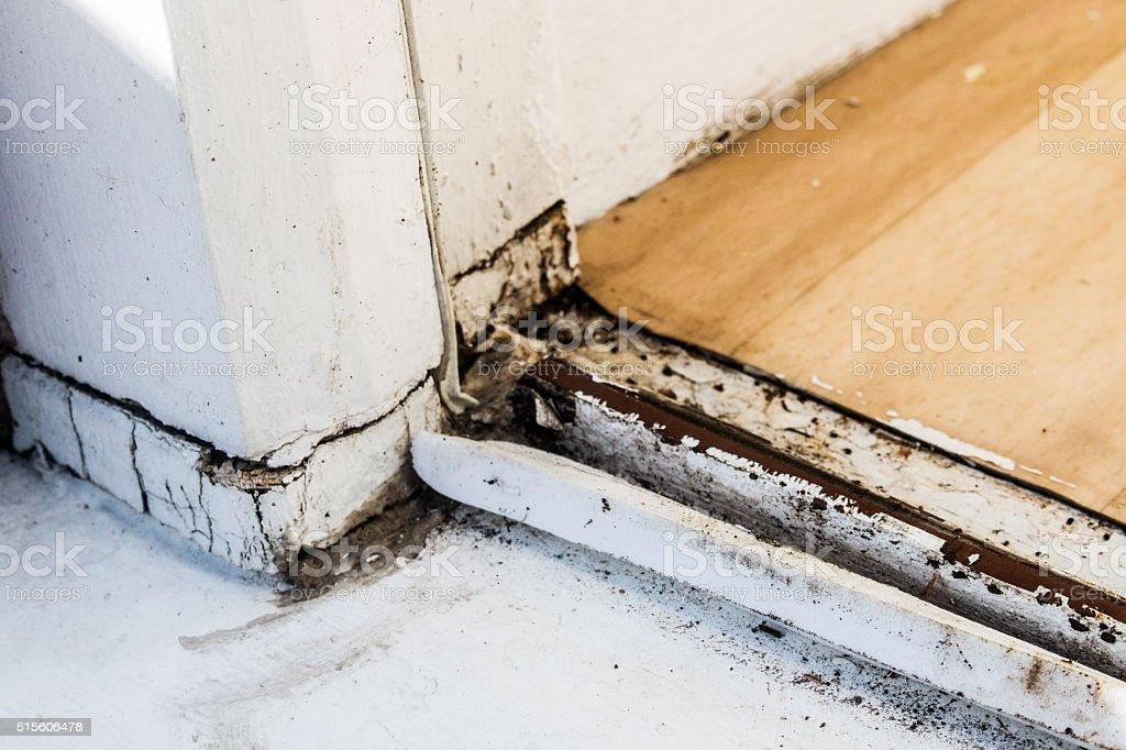 rotten door stock photo