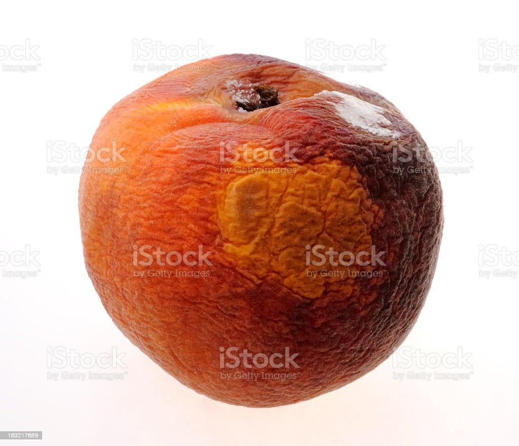 Rotten peach royalty-free stock photo
