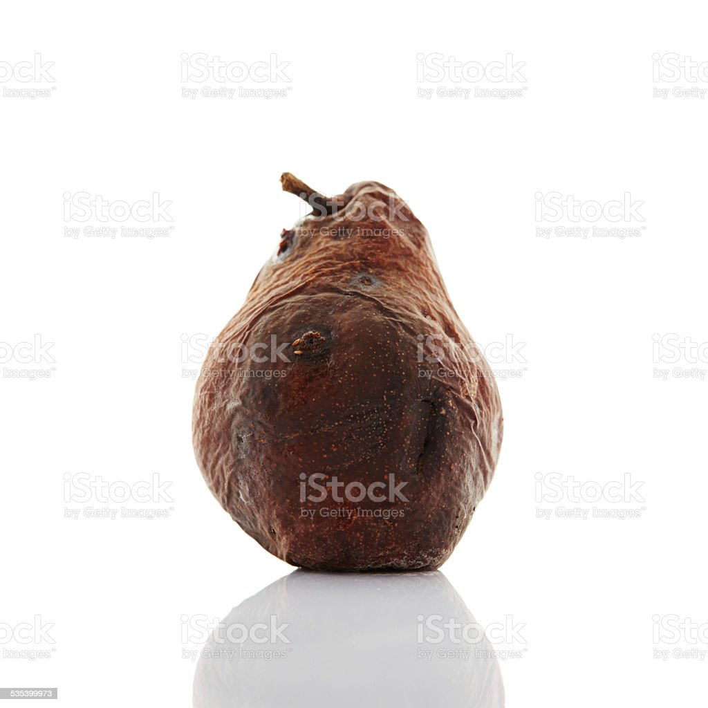 Rotten pear stock photo