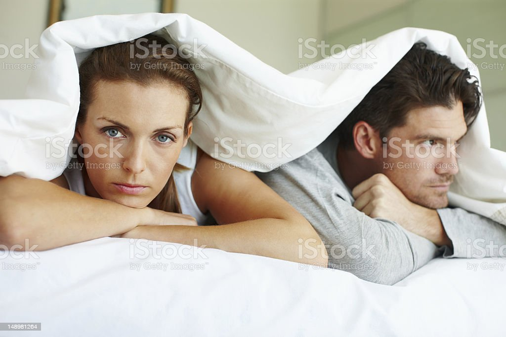 Rotten start to the day - Relationship Issues stock photo