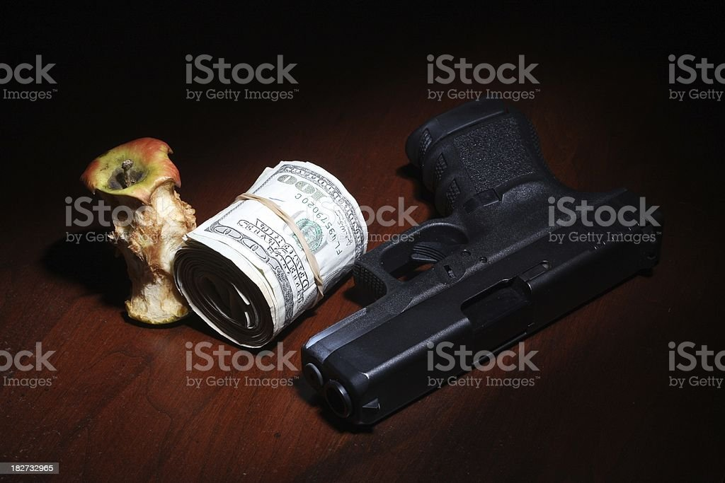Rotten To The Core stock photo