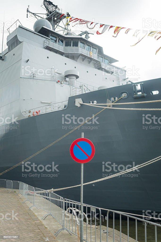 Rotterdam amphibious warfare ship of the Royal Netherlands stock photo