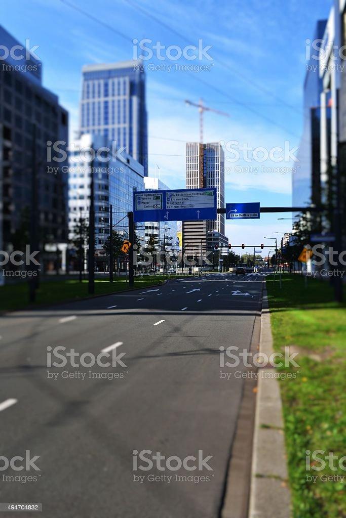 Rotterdam city stock photo