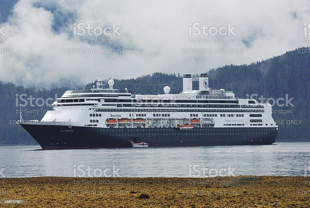 Rotterdam cruise ship in Sitka, Alaska royalty-free stock photo
