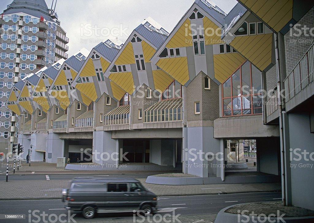Rotterdam Cube Houses stock photo