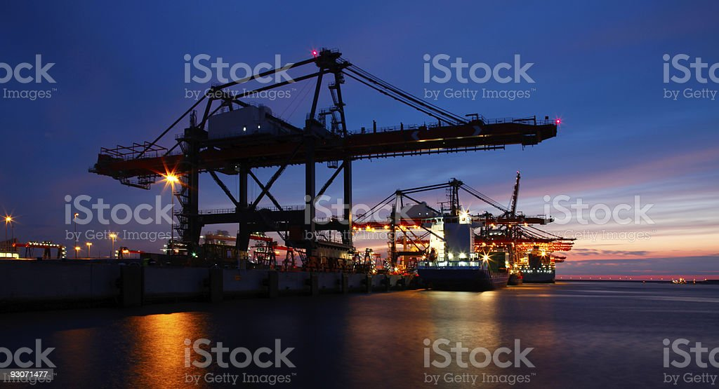 Rotterdam harbor royalty-free stock photo