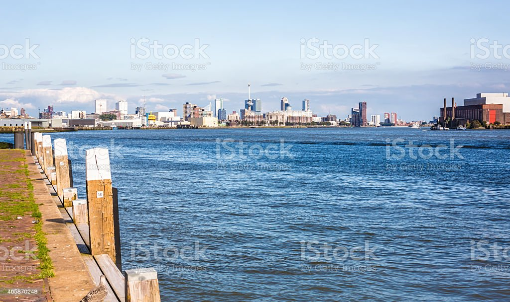 Rotterdam harbour stock photo