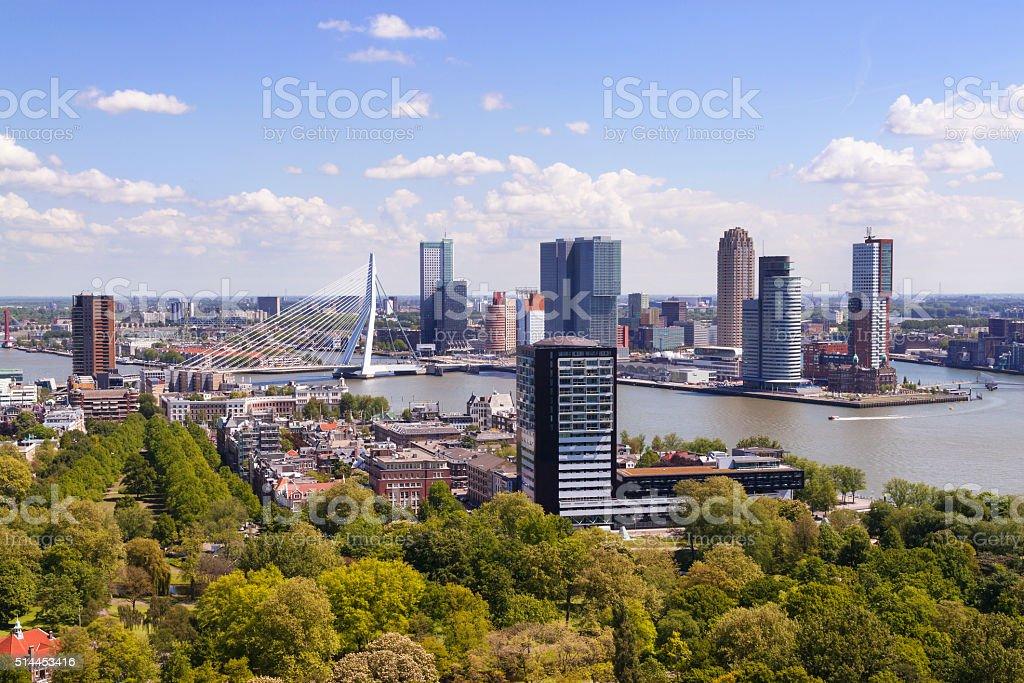 Rotterdam, Netherlands. City skyline on sunny day. stock photo