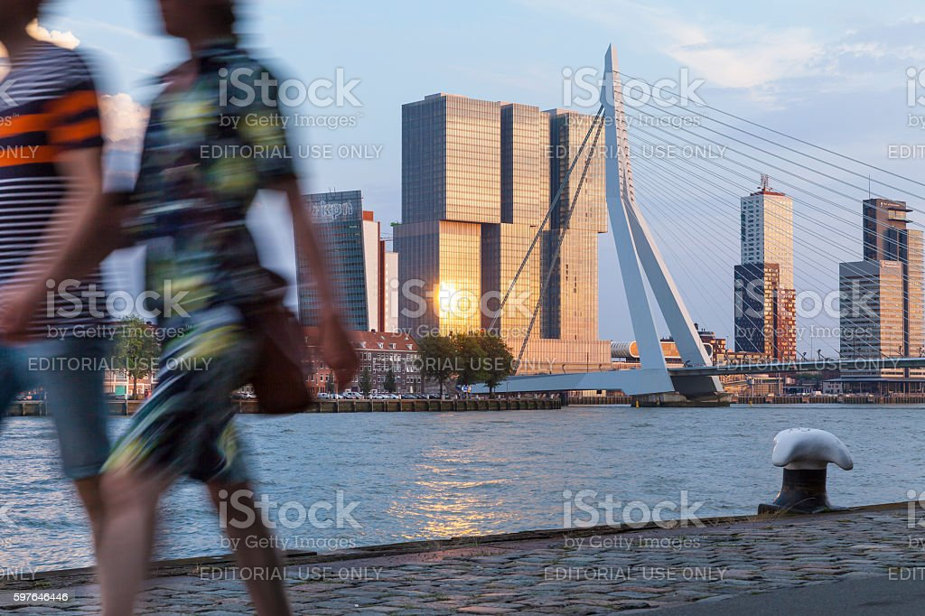 Rotterdam skyline, Netherlands stock photo
