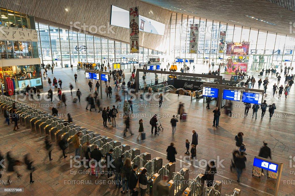 Rotterdam train station stock photo