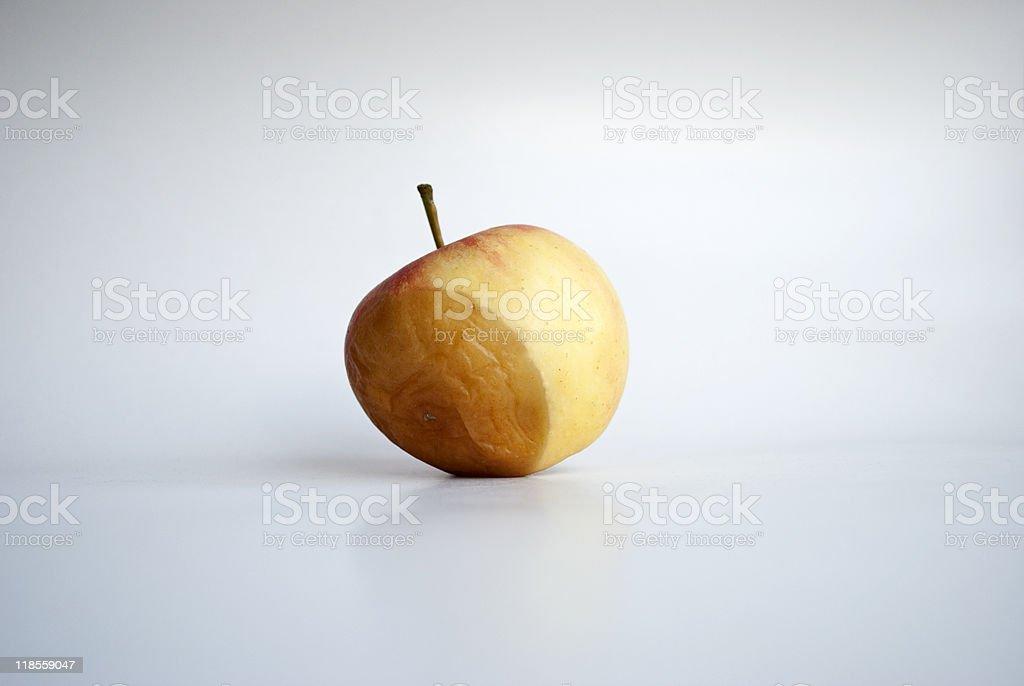 Rotting apple stock photo