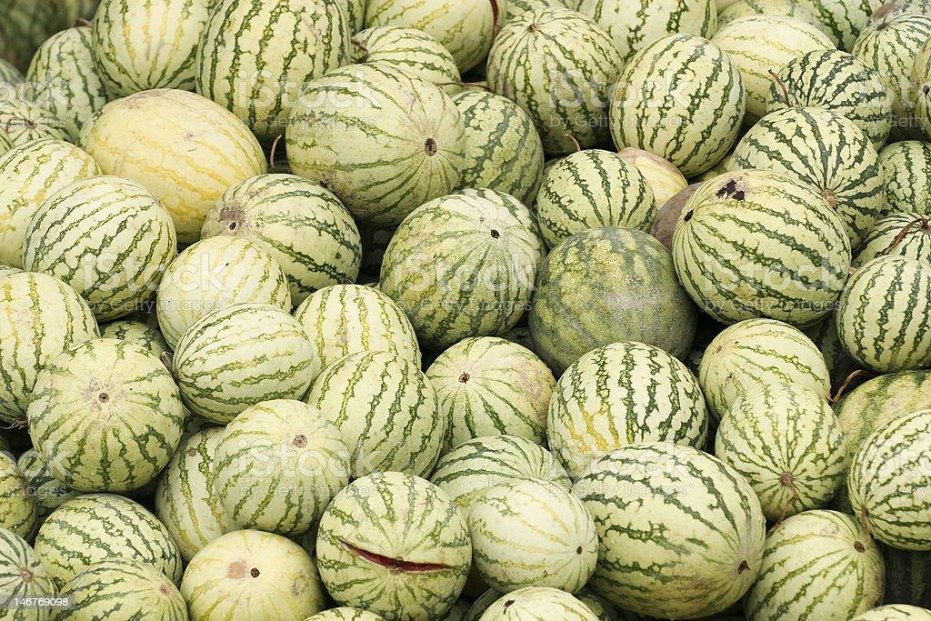 rotting melons royalty-free stock photo
