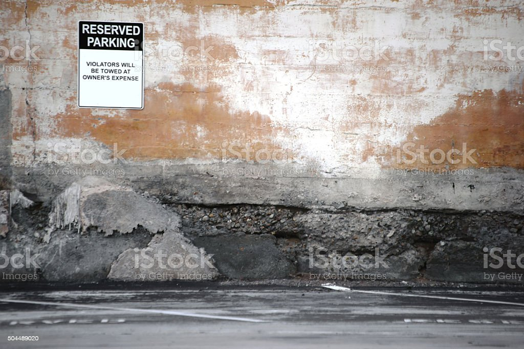 Rotting Parking Space stock photo