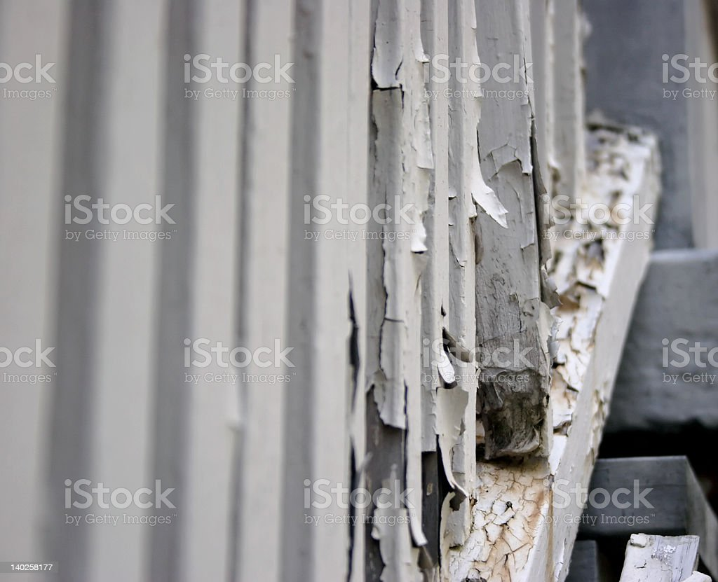 Rotting railing posts royalty-free stock photo