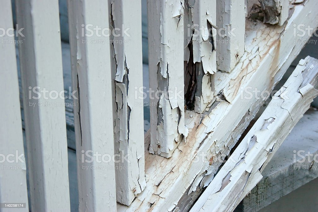 Rotting Stair Rail royalty-free stock photo